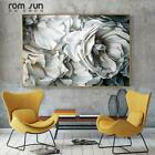 White Rose Canvas Painting Wall Art Pictures For Living Room Modern Home Decor