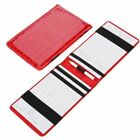Golf Scorecard Holder Pu Leather Yardage Book Golf Score Wallet Pocketbook Gift