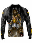 Raven Fightwear Men's The Gods of Egypt Maahes Rash Guard MMA BJJ Black