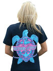 Southern Attitude Snappy Sea Turtle Womens Short Sleeve T Shirt