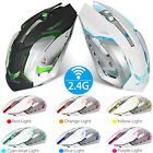 Wireless Rechargeable 7 Color LED Backlit 2400DPI USB Optical Gaming Mouse Mice