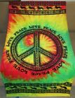 New+Tie+Dye+Tribal+Peace+Sign+Love+Bath+Beach+Pool+Gift+Velour+Towel+Rasta+Color