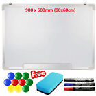 Magnetic Whiteboard Small Large White Notice Board Dry Wipe Office Home School <br/> ✔FREE: ✔Eraser+Pens + Magnets, ✔Free Same Day Dispatch✔