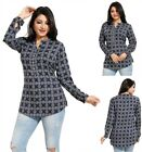 Unifiedclothes® Short Cotton Black Printed Kurti Tunic Kurta Shirt Dress MM201