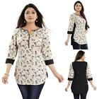 Top Short 3/4 Sleeves Cotton Printed Kurti Tunic Designer Kurta Dress MM204