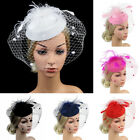 Women's Sinamay Fascinator Cocktail Party Hat Lady Wedding Church Kentucky Derby