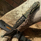 """NEW 12"""" Hunt-Down Forest Camo Fixed Blade Hunting Knife w/ Fire Starter Survival"""