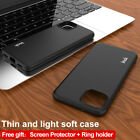 IMAK Frosted Soft TPU Gel Cover Case For Google Pixel 4 / 4 XL With Ring Holder