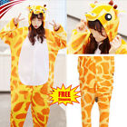 Giraffe Onesi1 Kigurumi Women Men Kids Animal Pajamas Cosplay Costume Sleepwears