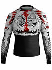 Raven Fightwear Men's Tiger and Dragon 1.0 Rash Guard MMA BJJ Black