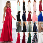 Womens Bridesmaids Formal Maxi Long Dress Prom Evening Party Wedding Gown Dress