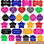 Pet ID Tags, Pet Tags, Many Shapes, 8 Colors, Personalized, Premium Aluminum
