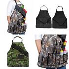 Outdoor BBQ Cooking & Grilling Waterproof Aprons W/ Beer Can Holder Belt Camping