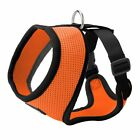 Dog Puppy Soft Mesh Harness - with Small Medium Dog Leash- 5 Sizes - 8 Colors