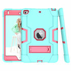 For Apple iPad Mini 4 5 Case Military Heavy Duty Rubber with Plastic Stand Cover