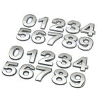 Car 3d Diy (a~z)(0~9)metallic Alphabet Sticker Emblem Letter Silver Badge Decal