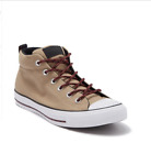 Converse Men's Chuck Taylor All Star Street Mid Top Casual Sneaker Boots Beige