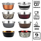 Dog Bowl Stainless Steel 500 950 1900ml Puppy Animal Feeding Food Water Dish