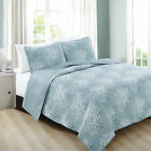Coastal 3 Piece Quilt Set/Bedspread. Bali Collection by Home Fashion Designs image