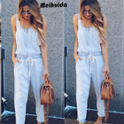 CA Women Casual Loose Sleeveless Jumpsuit Dungarees Playsuit Trousers Overalls