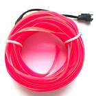 5M 12V Glowing Luminescent Neon LED Lights Glow EL Wire String Strip Rope Car