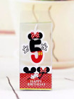 One Piece Disney Minnie Mouse Birthday Number Candle Red & Black number 0-9