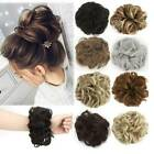 fashion synthetic wavy hair bun messy curly scrunchie wrap ponytail extensions
