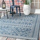 nuLOOM Transitional Kandace Outdoor Area Rug in Blue