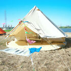 6M 4-Season Cotton Canvas Bell Tent w/ Inner Tent Waterproof Glamping Yurts Tent