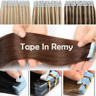 Russian Tape in Hair Extensions Human Hair Stick Glue Black Brown Blonde Ombre, used for sale  USA