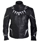 Captain America Civil War Black Panther Jacket Grade A Genuine Leather or Faux