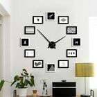 Large DIY Wall Clock 12 Photo Frame Clock Creative Picture Big Wall Watch Silent