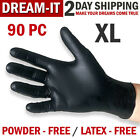 100 Black Nitrile Gloves Disposable Mechanic Food Exam Gloves Powder/Latex Free