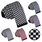 DQT Knitted Plaids Checks Checkered Formal Casual Business Mens Skinny Tie