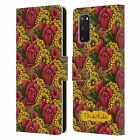 OFFICIAL FRIDA KAHLO RED FLORALS LEATHER BOOK CASE FOR SAMSUNG PHONES 1