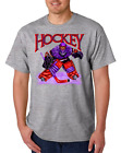 USA Made Bayside T-shirt Sports Hockey Player Goal Goalie Design 1