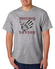 USA Made Bayside T-shirt Christian Touched By The Savior Jesus