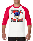 Gildan Raglan T-shirt 3/4 Sleeve Hockey Respect All Fear None