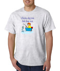 Gildan Short Sleeve T-shirt Chicks Dig Me Fish Fear Me Funny Fishing