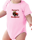 Infant Creeper Bodysuit T-shirt Farmer's Daughter Red Tractor
