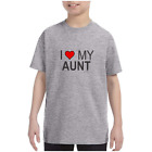 Youth Kids T-shirt I Love My Aunt