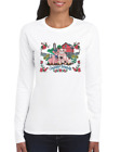 Gildan Long Sleeve T-shirt Country Friends Farm Farmer Barn Pigs Summer