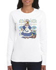 Gildan Long Sleeve T-shirt Country Rabbit Bunny Doll hearts flowers