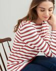 Joules Womens Harbour Jersey Top Shirt in CREAM NAVY RED STRIPE <br/> Joules Official eBay Store: Free UK Delivery