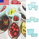 Внешний вид - 3 PACK Zip Top Leakproof Reusable Silicone Food Storage Bags Containers Stand Up