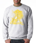 Gildan Crewneck Sweatshirt Sports Hockey Player Shadow Digital Yellow