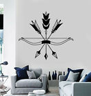 Vinyl Wall Decal Arrows Bow Bird Feathers Ethnic Style Hunting Stickers (g1066)