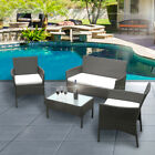 Garden Furniture Set Conservatory Patio Rattan Outdoor Table Chairs Optional