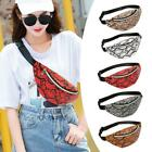 Snake Print Women Shoulder Waist Fanny Belt Packs Pu Leather Chest Bags Totes