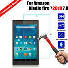 Real Tempered Glass Screen Protector HD Premium For Kindle Fire 7 2019/2015 5th